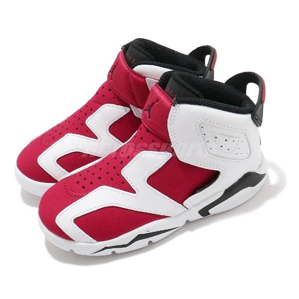 Nike 籃球鞋 Jordan 6 Retro Little Flex Carmine 白 紅 胭脂紅 喬丹 小童 童鞋 【ACS】 CT4417-106