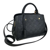 Louis Vuitton LV M41053 Montaigne BB 經典花紋全皮革兩用仕女包.黑 全新 預購 【茱麗葉精品】