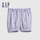 Gap嬰兒 布萊納系列 甜美印花純棉鬆緊短褲 669595-淡紫色