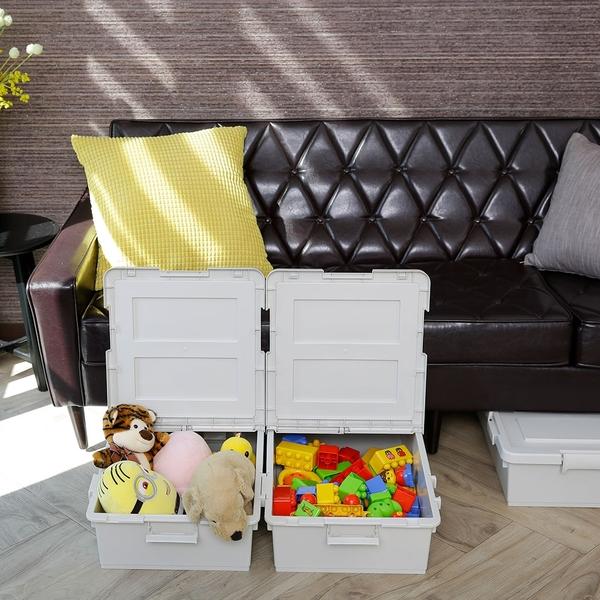 收納箱 收納 置物盒 收納盒 衣物收納【G0078-A】雙掀式可連結收納箱50L(2入)(兩色) 韓國製 完美主義