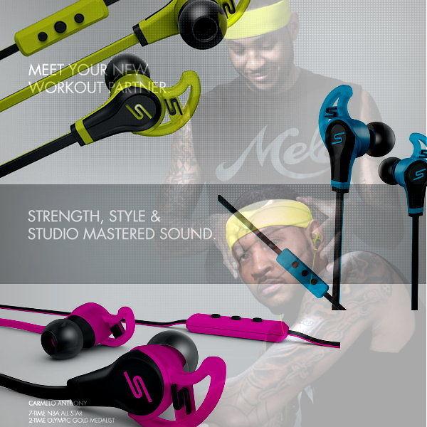 SMS Audio STREET by 50 In-Ear Wired  Sport Headphone 防潑水運動耳機 入耳道 線控麥克風耳機