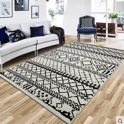 簡約現代北歐沙發茶几客廳地毯臥室床邊房間滿鋪可機洗長方形家用