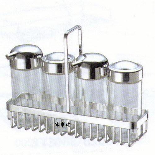 [家事達] 日日 DAY&DAY 不鏽鋼桌上型調味罐架組 ST3029SA +