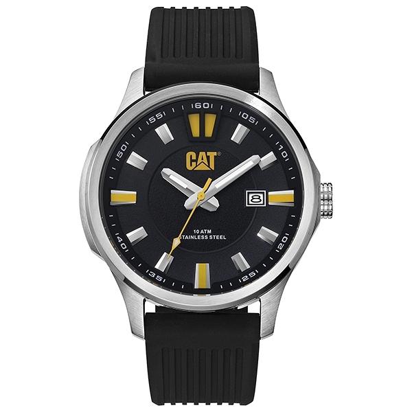 【CAT Watch】MAVERICK時尚日期潮流矽膠腕錶-霸氣黑/AG.141.21.127/台灣總代理公司貨享兩年保固