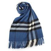 BURBERRY經典格紋喀什米爾羊毛圍巾(藏青色)089510-15