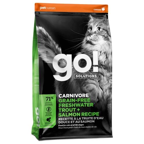 【寵物王國】Go!高肉量無穀系列 淡水鱒魚 全貓配方3磅/1.36kg