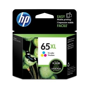 HP㊣原廠墨水匣(65XL)NO.65XL 彩色高容量適用機型 HP AMP 130 Printer/HP DeskJet 2624/2655/3720/3721/3723