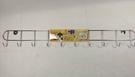 台灣製造 不銹鋼十連勾 K-957【54602029】收納架 壁勾 掛鉤 衣帽勾 毛巾架《八八八e網購