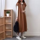 [預購+現貨]衛衣帽釦背心洋(2色)-洋裝-72029120 -pipima-53