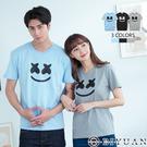 XX笑臉【OBIYUAN】短袖T恤 MIT 純棉上衣 情侶款 表情 短T 共3色【ERA9909】