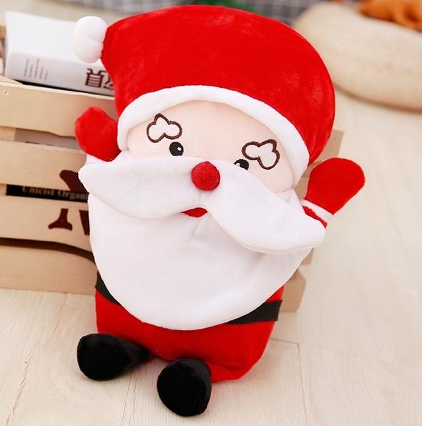 【45公分】卡通風格鬍子聖誕老人玩偶 聖誕老公公 絨毛娃娃 創意雜貨 過節布置 耶誕節交換禮物