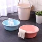 水桶 塑料水桶手提加厚洗衣桶家用多功能儲水桶圓形桶宿舍洗衣桶裝水桶