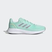 Adidas RUN FALCON 2.0 女款綠色運動慢跑鞋-NO.FY9625