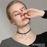 韓國choker項鍊女秋冬款鎖骨鍊短款脖子飾品頸帶黑色頸鍊項圈黑繩     時尚教主