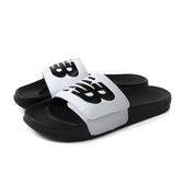 NEW BALANCE 拖鞋 白/黑 戶外 運動風 男鞋 SMA200W1-D no597