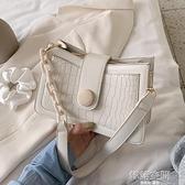 斜背包 網紅復古小包包女包2020流行新款潮時尚百搭單肩腋下包女士斜背包側背包