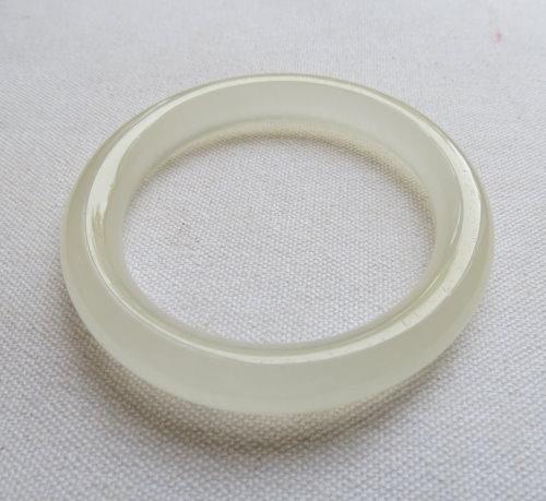 冰種圓條白玉手鐲#0786  56.7mm