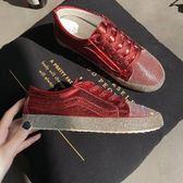 懶人鞋 春季新款水鑚亮片時尚女鞋百搭休閒平底紅色單鞋學生板鞋潮 探索