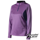 PolarStar 女 高領拉鍊保暖衣『葡萄紫』P19216 上衣 休閒 戶外 登山 吸濕排汗 透氣