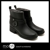 短筒雨靴 素面交叉搭扣時尚短筒女雨鞋 mo.oh (韓國鞋款)