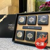 黑色鏤空燙金中秋月餅禮盒 6粒加厚高檔廣式月餅蛋黃酥星空包裝盒 - 夢藝家