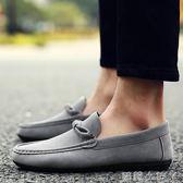 豆豆鞋男士休閒鞋男男鞋子布鞋一腳蹬套腳懶人鞋潮鞋  蘿莉小腳ㄚ
