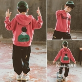 男童連帽T恤秋裝新款兒童洋氣上衣中大童連帽春秋款休閒韓版潮裝 Korea時尚記