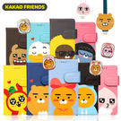 韓國 KAKAO FRIENDS 磁釦皮套 手機殼│iPhone 5S SE 6 6S 7 8 Plus X LG G5 G6 V20 V30│z7812