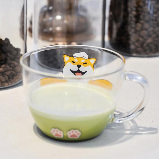 貓爪杯 云木雜貨 大叔 柴犬 萌貓玻璃水杯 牛奶果汁咖啡杯 早餐杯 貓爪杯