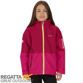 【REGATTA 英國 兒童 海卓特Ⅱ超反光防水二件式外套《玫瑰紅/紅》】RKP174/防水/透氣/防風