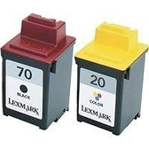LEXMARK環保墨水匣12A1970(70) + 15M0120(20) 3黑2彩共5個 適用3100/Z42/Z43/Z45/Z51/Z52/Z53/Z54/Z82/Z700/Z705