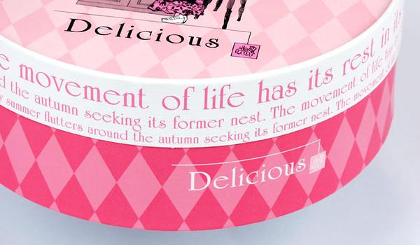 16CM  粉色少女 附棉紙底板 6吋 乳酪盒 起司蛋糕盒 禮盒 包裝盒 派盒【C008】