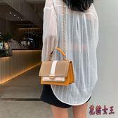 包包洋氣簡約手提女包2019新款時尚韓版百搭單肩斜挎鏈條包 WT54【花貓女王】