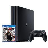 PS4 PRO 1T 主機贈指定軟體-NBA 2K19  標準版中文版【愛買】