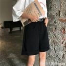 韓版夏季學院風休閒寬鬆直筒闊腿牛仔短褲子女潮 618購物節