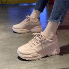 老爹鞋粉紅色老爹鞋女2020新款韓版氣質學生時尚原宿潮鞋小白鞋 新年禮物
