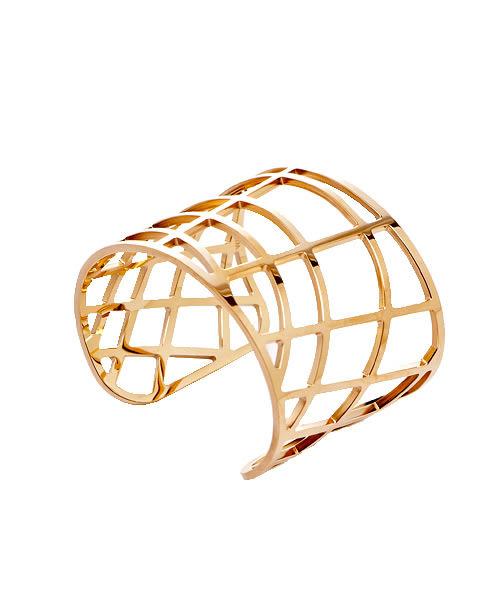 CK Calvin Klein  DRAW 優雅玫瑰金縷空手環飾品(KJ1TPF1001)