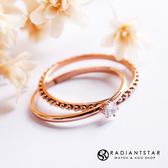 [鈦鋼]與你的約定單鑽戒指二件組【KTL545】璀璨之星☆