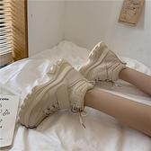 高筒鞋女秋季新款時尚百搭鬆糕底學生鞋潮韓版時尚舒適老爹鞋 傑克型男館