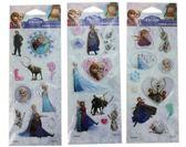 ~卡漫城~冰雪奇緣貼紙3 張組㊣版Frozen 水晶雪寶艾莎安娜Elsa Anna 立體