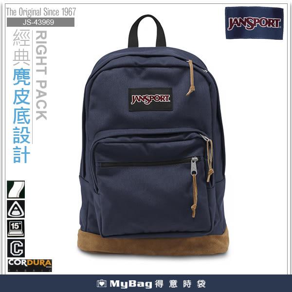 JANSPORT 後背包 43969-003  深藍 麂皮底筆電後背包  MyBag得意時袋