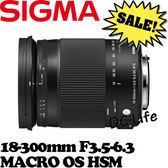 【24期0利率】SIGMA 18-300mm F3.5-6.3 MACRO OS HSM (公司貨)