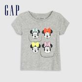 Gap 女幼童 迪士尼印花圓領短袖T恤 584843-淺麻灰