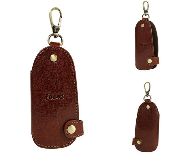 【橘子包包館】FOCUS 富可仕 質感原皮 真皮 男用 鑰匙包 FTA0283 咖啡