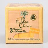 法國【小橄欖樹】馬賽香皂(甘油) 100g*3入
