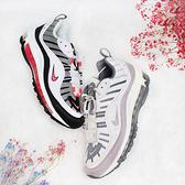 【母親節跨店現貨折後$3280】NIKE AIR MAX 98 白黑粉 女 氣墊 跑鞋 復古 慢跑鞋 運動 休閒 AH6799-104
