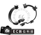 【EC數位】多功能C型支架 閃光燈支架 附雙熱靴 可接腳架 外閃 攝影燈 麥克風 接收器