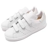 adidas 休閒鞋 Stan Smith CF 白 全白 皮革 小白鞋 魔鬼氈 男鞋 女鞋【PUMP306】 CQ2632