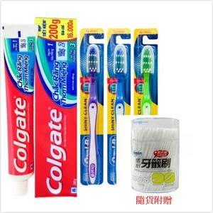 Colgate 三效合一牙膏(200g)+Oral B 歐樂B 牙刷/*12