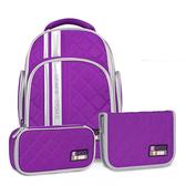 Tiger Family彩虹超輕量護脊書包+文具袋+鉛筆盒-葡萄紫